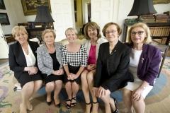 11. Constance Cassidy with Mins Humphreys, Fitzgerald, O'Sullivan, Tanaiste + Attorney General Whelan