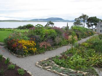 View of the herbaceous borders planted by Jimi Blake, taken September 2007
